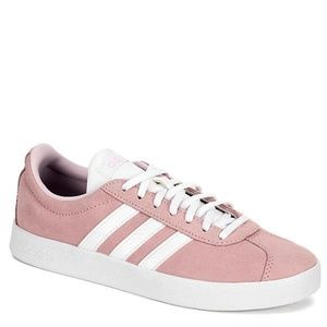Adidas | Court Sneakers in Pink Suede